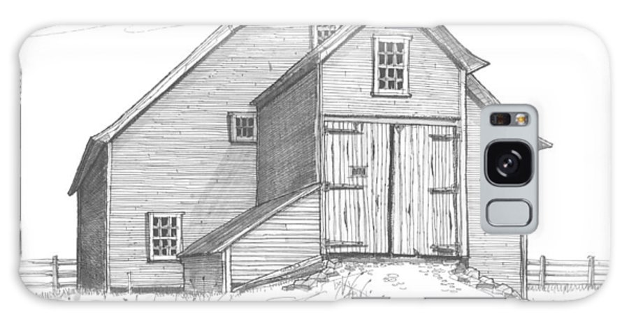 Barns Galaxy S8 Case featuring the drawing Vermont Barn by Richard Wambach