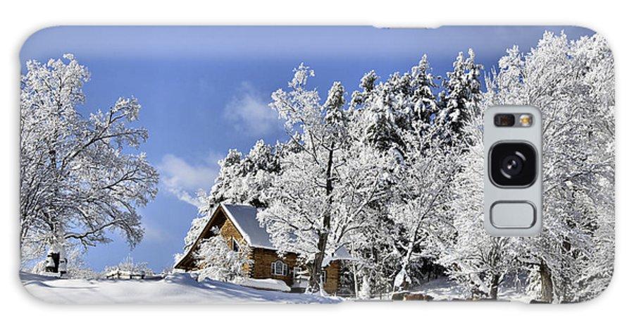 Winter Galaxy S8 Case featuring the photograph Vermont Winter Beauty by Deborah Benoit
