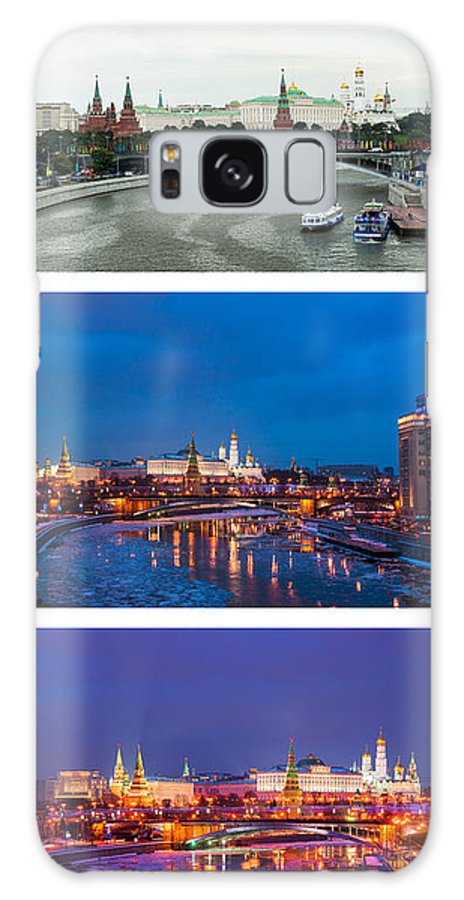 Amazing Galaxy S8 Case featuring the photograph Vertical Collage - Kremlin View - Featured 3 by Alexander Senin