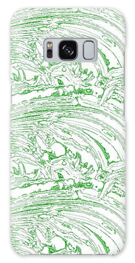 Tsunami Galaxy S8 Case featuring the photograph Vertical Panoramic Grunge Etching Sage Color by Joseph Baril