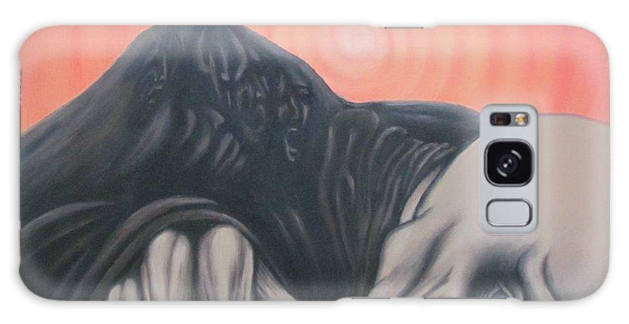 Tmad Galaxy Case featuring the painting Vertigo by Michael TMAD Finney