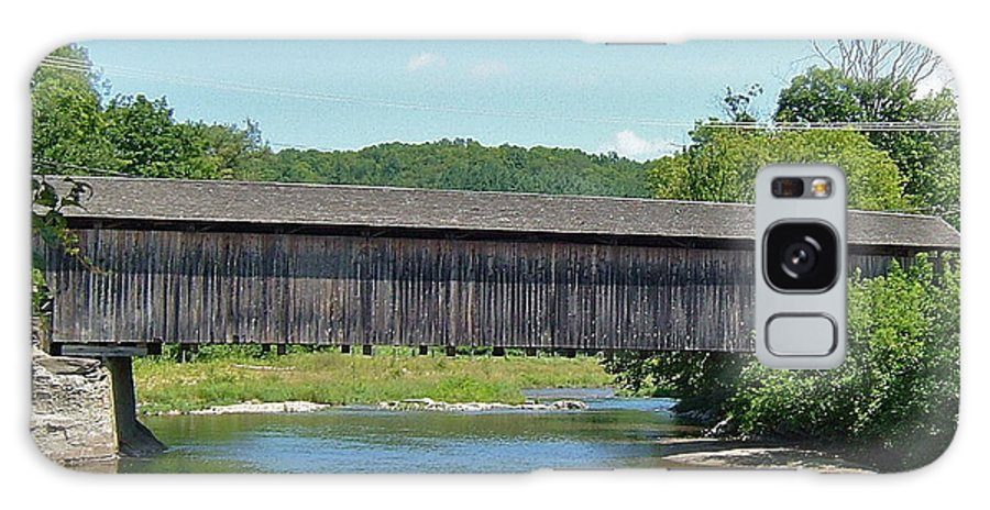 Very Long Galaxy S8 Case featuring the photograph Very Long Covered Bridge by Susan Wyman