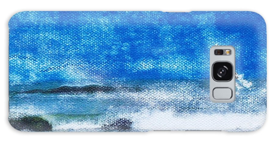 Blue Galaxy S8 Case featuring the mixed media Vesterhavet The North Sea by Cecilia Uneland
