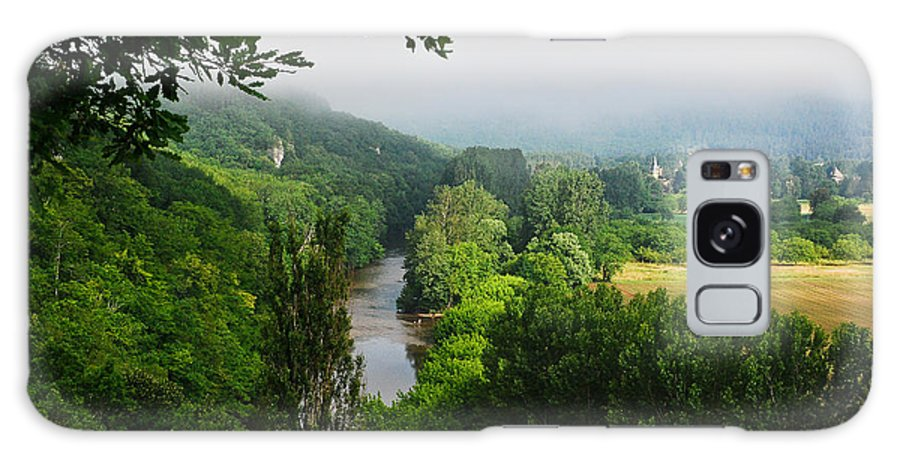 Fog Galaxy S8 Case featuring the photograph Vezere River Valley by Jeff Black