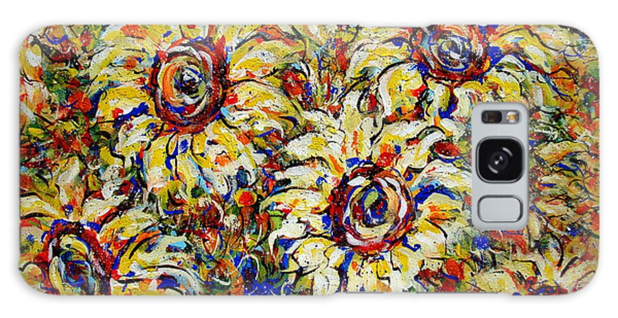 Flowers Galaxy Case featuring the painting Vibrant Sunflower Essence by Natalie Holland