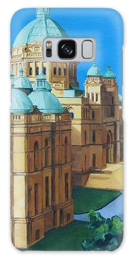 Victoria Bc Galaxy S8 Case featuring the painting Victoria Bc Parliament by Nel Kwiatkowska