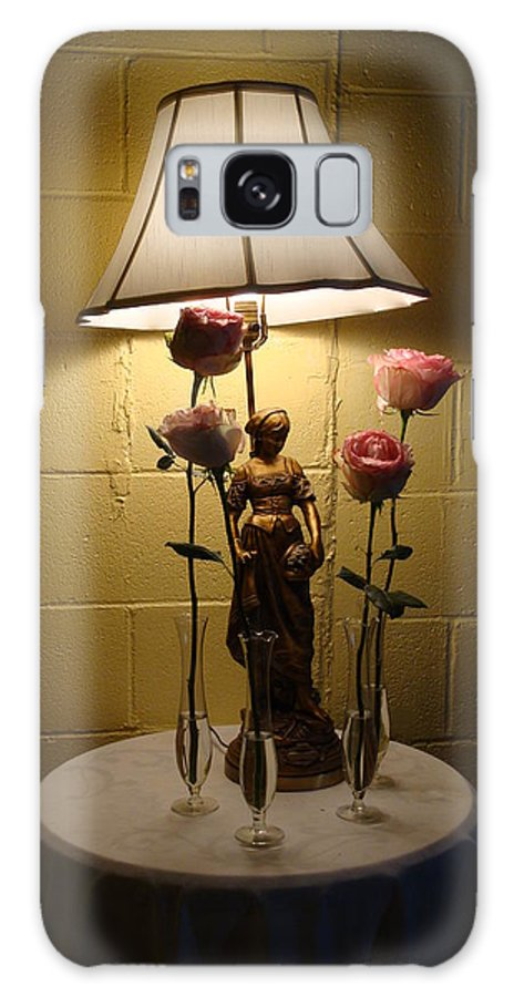 Roses Galaxy S8 Case featuring the photograph Victorian Lamp And Roses by Kim Chernecky