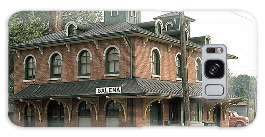 Victorian Train Station In Galena Galaxy S8 Case featuring the photograph Victorian Train Station Galena Illinois by Robert Birkenes