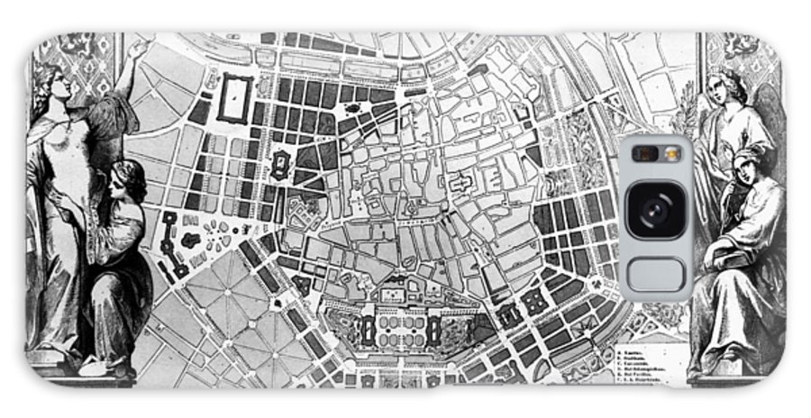 1860 Galaxy S8 Case featuring the photograph Vienna: Plan, 1860 by Granger