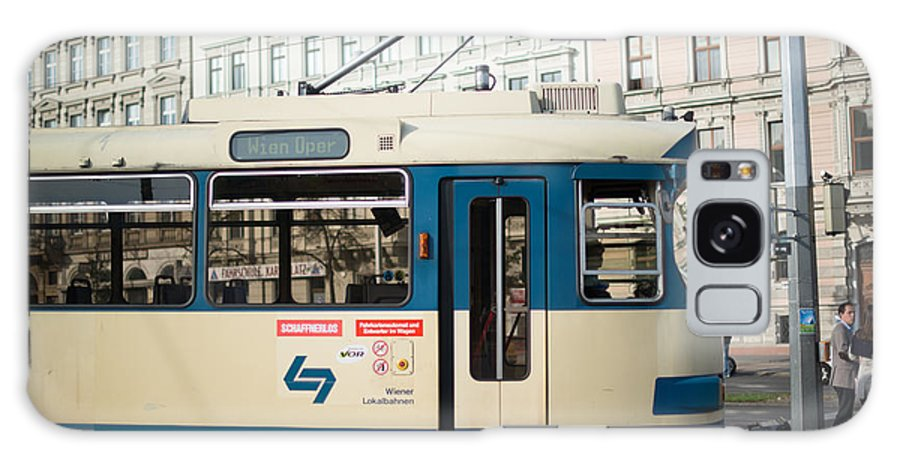 Tram Galaxy S8 Case featuring the photograph Vienna Tram by Frank Gaertner