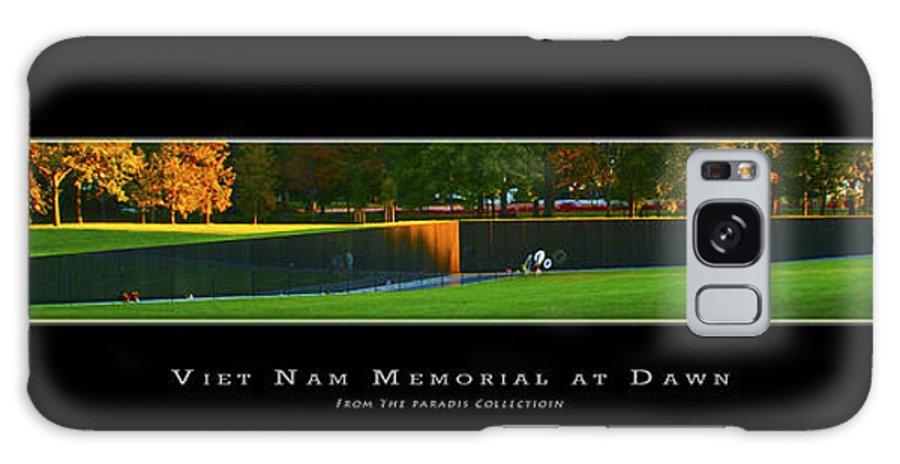 Poster Galaxy S8 Case featuring the digital art Viet Nam Memorial Wall At Dawn by Joe Paradis