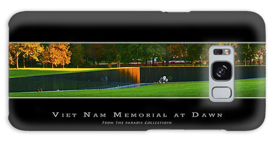 Viet Nam Memorial Galaxy S8 Case featuring the digital art Viet Nam Memorial Wall With Border by Joe Paradis