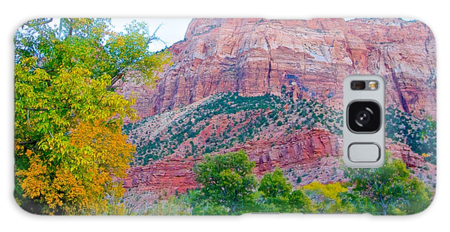 View From South Campground Galaxy S8 Case featuring the photograph View From South Campground In Zion Np-ut by Ruth Hager