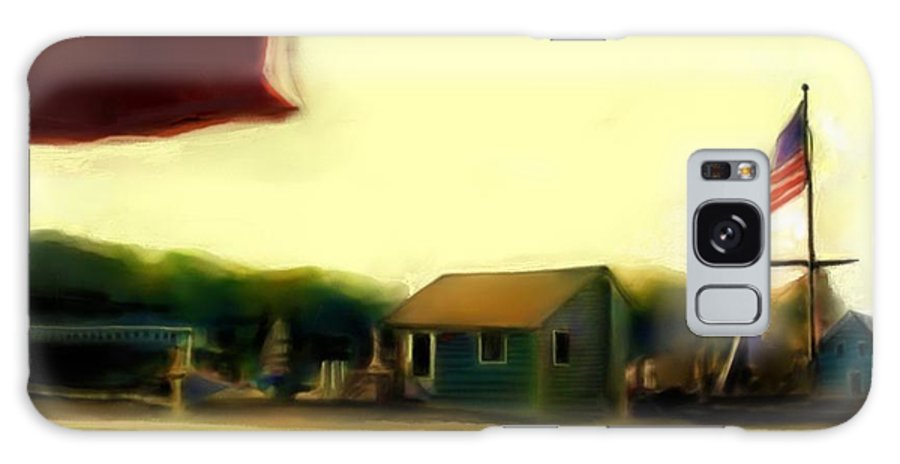 Fineartamerica.com Galaxy S8 Case featuring the painting View From The Deck by Diane Strain