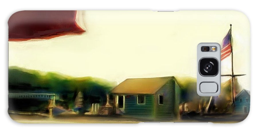 Fineartamerica.com Galaxy S8 Case featuring the painting View From The Deck Number 2 by Diane Strain
