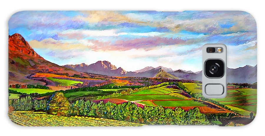 Landscape Galaxy S8 Case featuring the painting View From Warwick Vineyard by Michael Durst