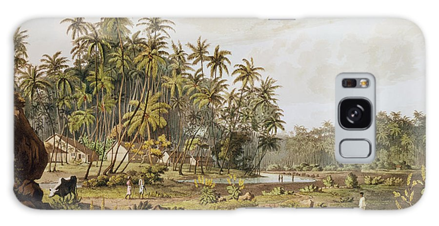 Vue De Ceylan Galaxy S8 Case featuring the photograph View Near Point Du Galle, Ceylon, Engraved By Daniel Havell 1785-1826 Published In 1809 Coloured by Henry Salt