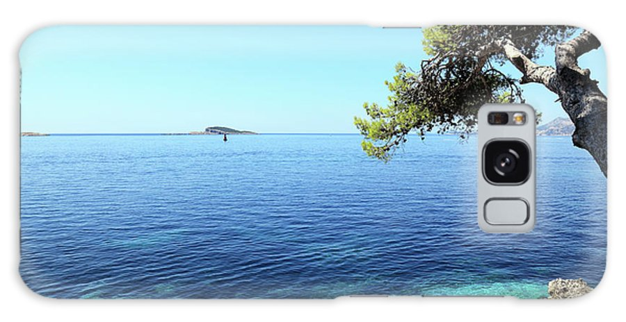 Water's Edge Galaxy Case featuring the photograph View Of Dubrovnik From Cavtat Peninsula by Vuk8691