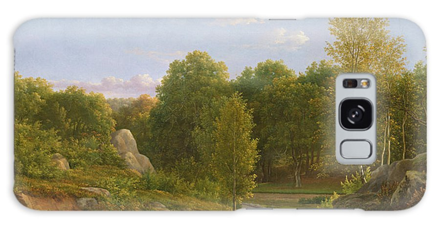Landscape Galaxy S8 Case featuring the photograph View Of Fontainebleau Forest, 1829 Oil On Canvas by Jean Joseph Xavier Bidauld