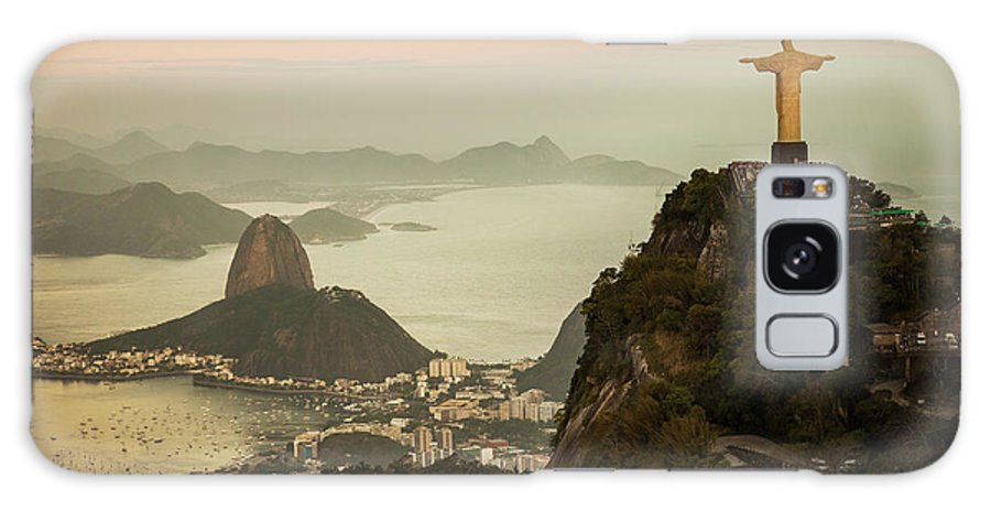 Outdoors Galaxy Case featuring the photograph View Of Rio De Janeiro At Dusk by Christian Adams