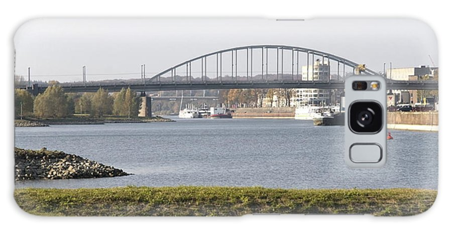 John Frost Bridge Galaxy S8 Case featuring the photograph View Of The John Frost Bridge In Arnhem Netherlands by Ronald Jansen