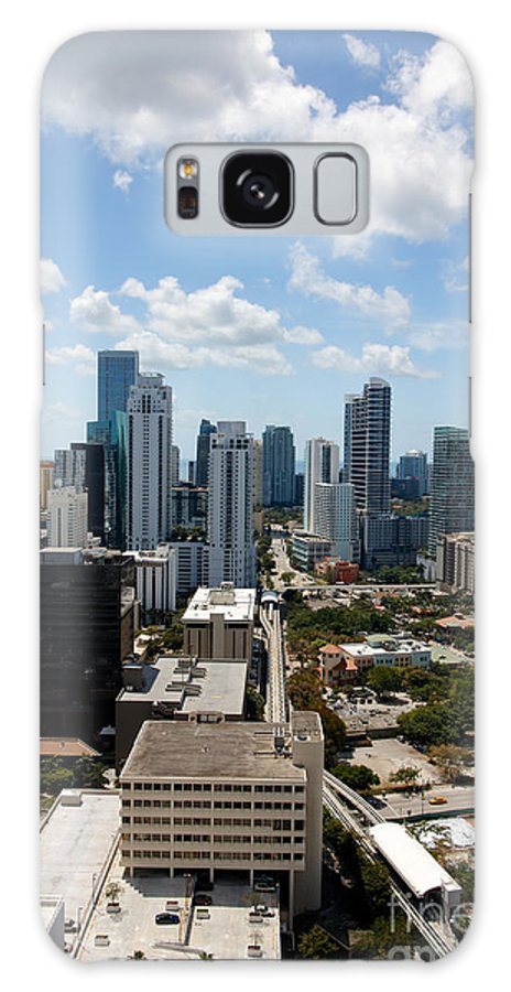 Aerial Galaxy S8 Case featuring the photograph View Over Brickell Miami by Jannis Werner