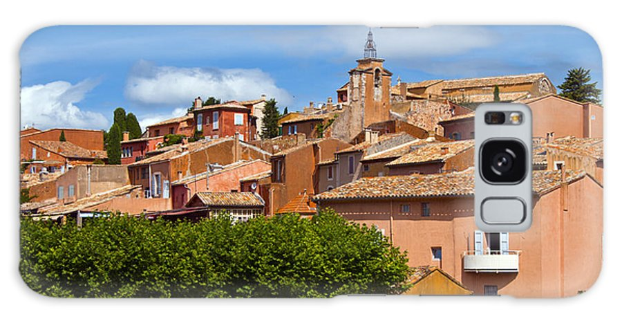 Roussillon France Provence Window Windows Shutter Shutters City Cities Cityscape Cityscapes Building Buildings Structures Architecture House Houses Galaxy S8 Case featuring the photograph Village View by Bob Phillips