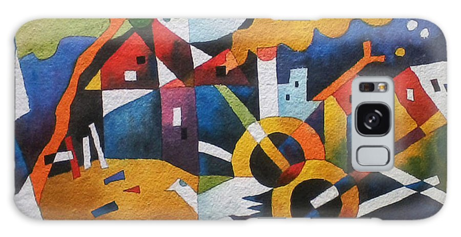 Abstract - Village Feel Galaxy S8 Case featuring the painting Village by Vikram Sutar