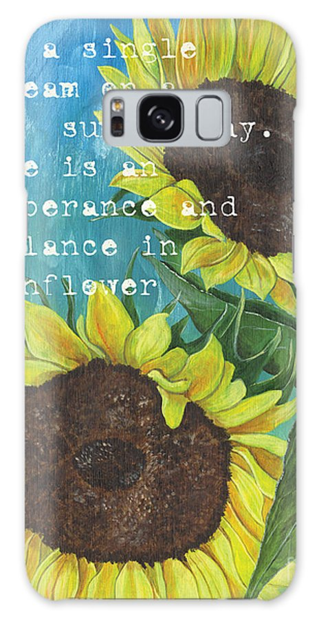 Flowers Galaxy S8 Case featuring the painting Vince's Sunflowers 1 by Debbie DeWitt