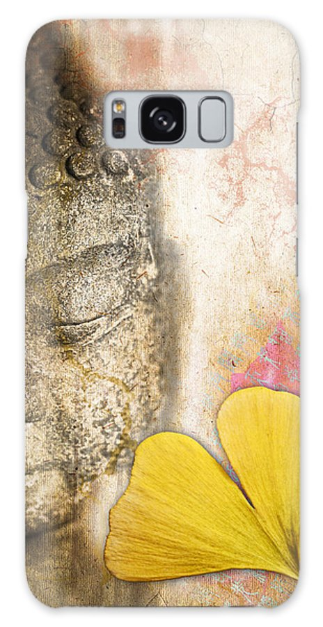 Buddha Galaxy S8 Case featuring the photograph Vintage Buddha And Ginkgo by Delphimages Photo Creations