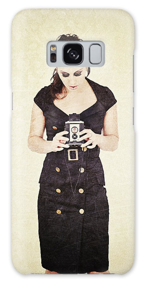 Camera Galaxy S8 Case featuring the photograph Vintage Camera User by Innershadows Photography