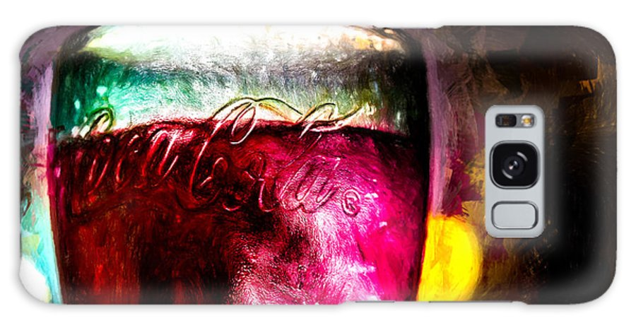 Coke Galaxy Case featuring the painting Vintage Coca Cola Glass With Ice by Bob Orsillo