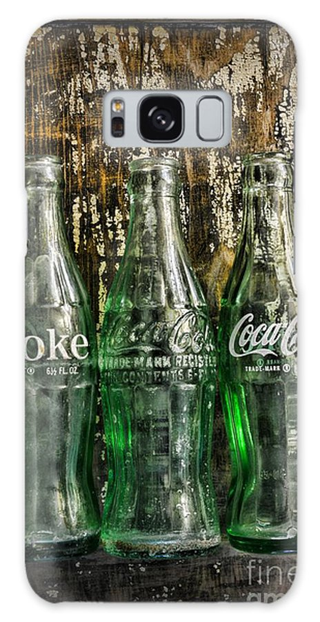 Coke Galaxy Case featuring the photograph Vintage Coke Bottles by Paul Ward