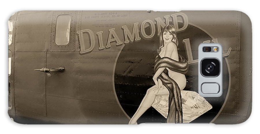 Aircraft Galaxy S8 Case featuring the photograph Vintage Diamon Lil B-24 Bomber Aircraft by Amy McDaniel