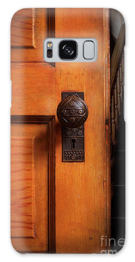 Door Galaxy S8 Case featuring the photograph Vintage Door And Stairs by Jill Battaglia