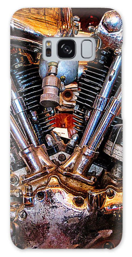 Harley Davidson Galaxy S8 Case featuring the photograph Vintage Harley Knucklehead by Jim Pruett