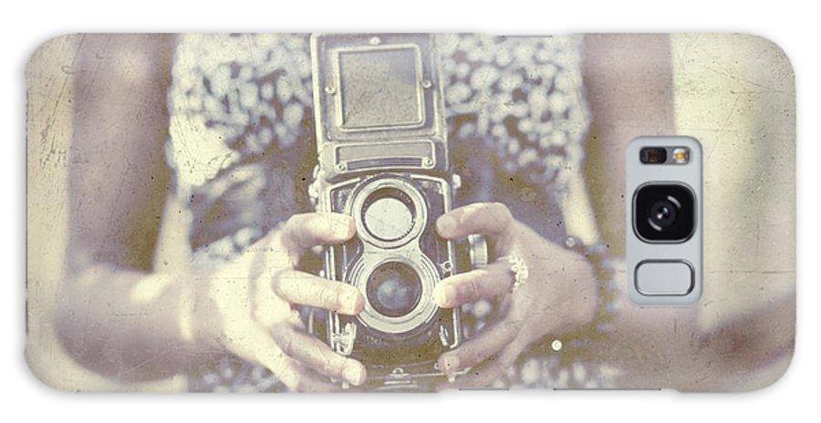 Camera Galaxy S8 Case featuring the photograph Vintage Medium Format Camera by Innershadows Photography