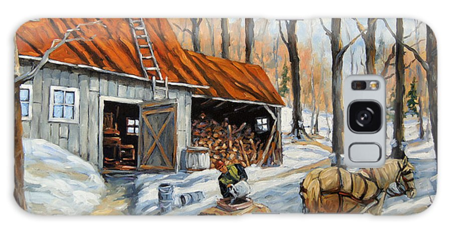 Landscape Galaxy S8 Case featuring the painting Vintage Sugar Shack By Prankearts by Richard T Pranke