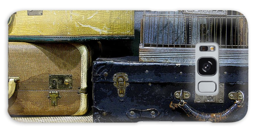 Suitcase Galaxy S8 Case featuring the photograph Vintage Suitcase by Rebecca Renfro