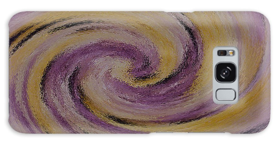 Design Galaxy S8 Case featuring the digital art Violet And Yellow In Motion by Sandra Clark