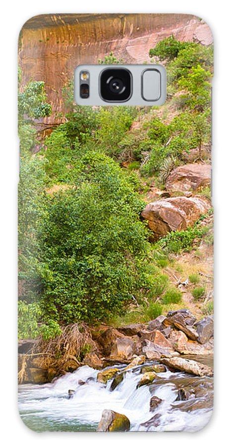 Utah Galaxy S8 Case featuring the photograph Virgin River - Utah by Wayne Vedvig