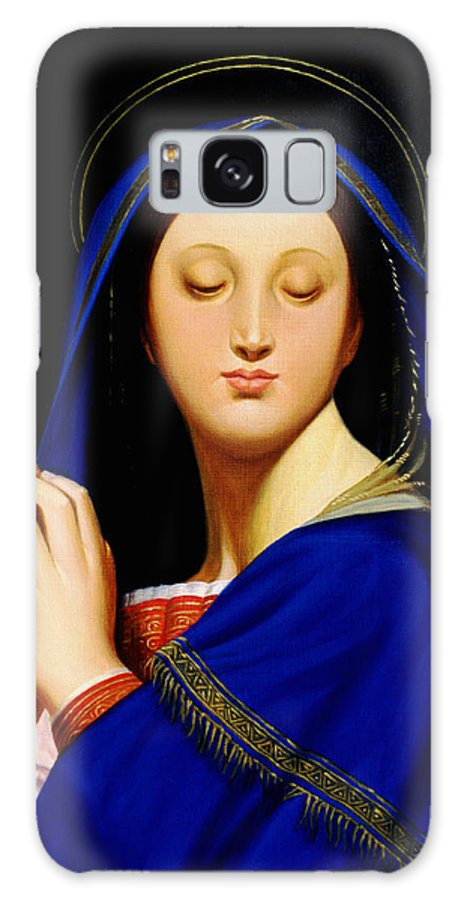 Religious Galaxy S8 Case featuring the painting Virgin With The Host After Ingres by Gary Hernandez