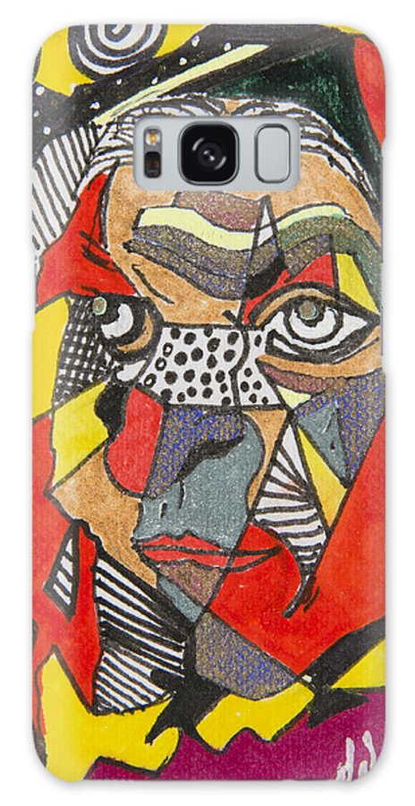 Abstract Galaxy S8 Case featuring the drawing Visions by Dennis Davis