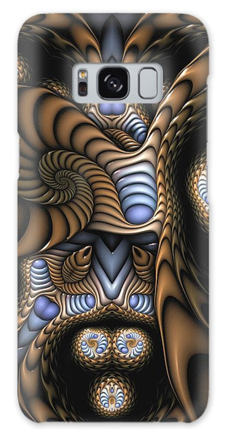 Abstract Galaxy S8 Case featuring the digital art Vitreous Inanity by Casey Kotas