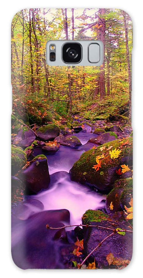 Streams Galaxy S8 Case featuring the photograph Vivid Green by Jeff Swan