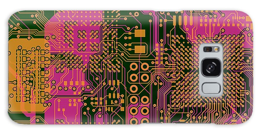 Circuit Galaxy S8 Case featuring the digital art Vo96 Circuit 6 by Paul Vo
