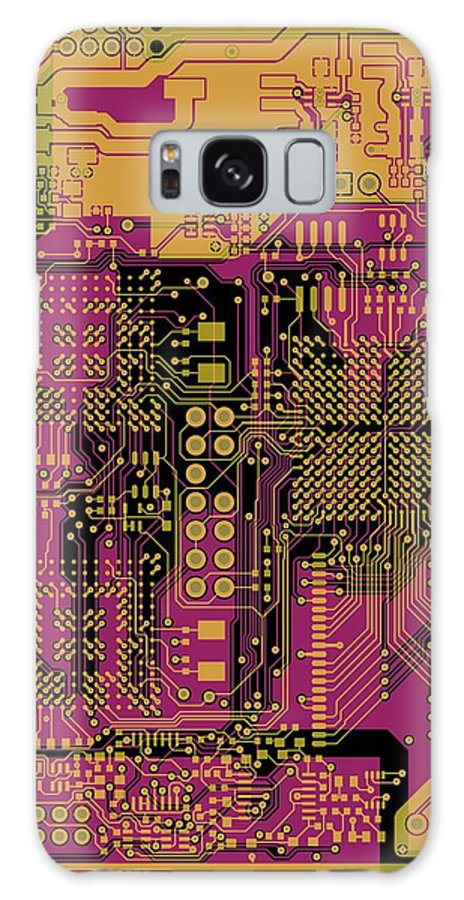 Circuit Galaxy S8 Case featuring the digital art Vo96 Circuit 8 by Paul Vo