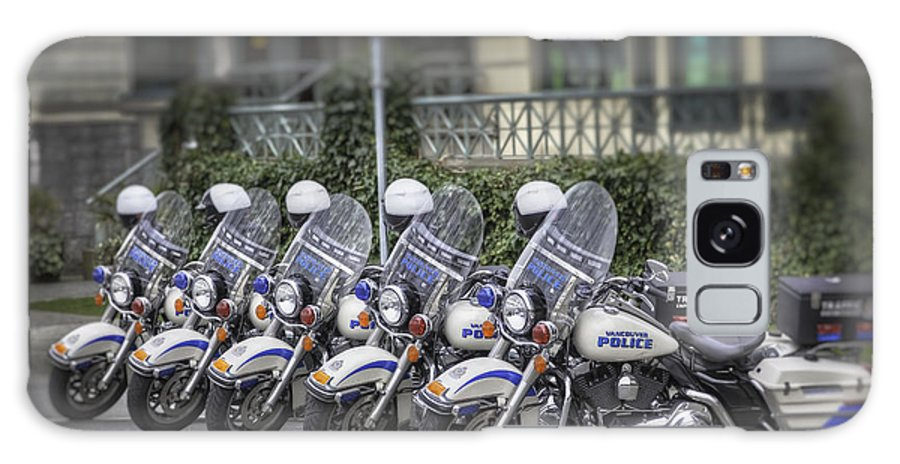 Police Bikes Galaxy S8 Case featuring the photograph Vpd 5 Bikes by Russell Trevail