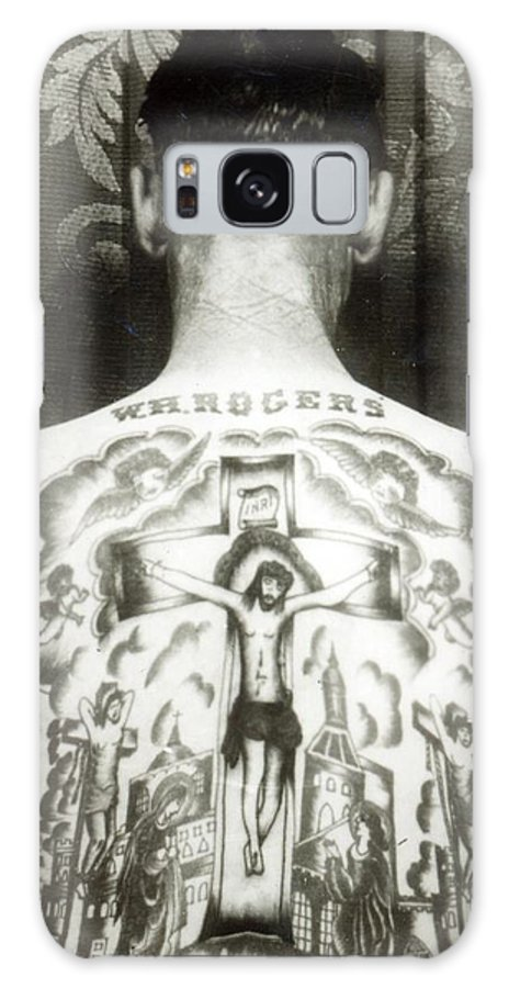 Jesus Christ; Male; 19th; 20th; Male; Portrait; Tattoed; Tattoo; Body Art; Back; Crucifix; Crucifixion Galaxy S8 Case featuring the photograph W H Rogers Clarksville Tennessee by American Photographer