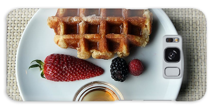 Waffles Galaxy S8 Case featuring the photograph Waffles And Maple Syrup by Ros Drinkwater